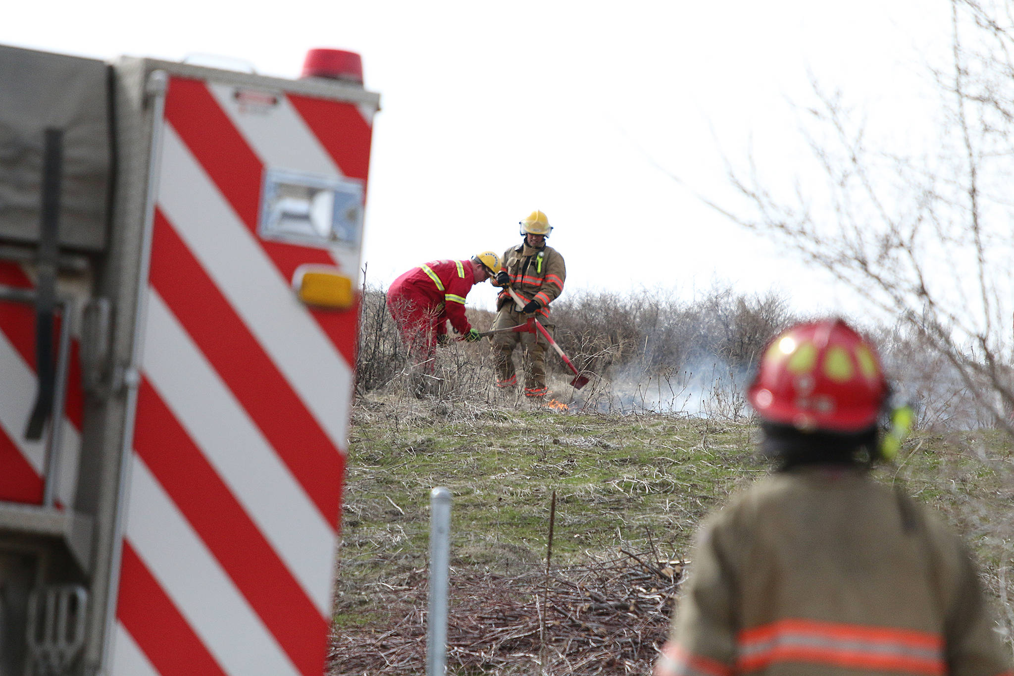 First grass fire of season in Vernon extinguished