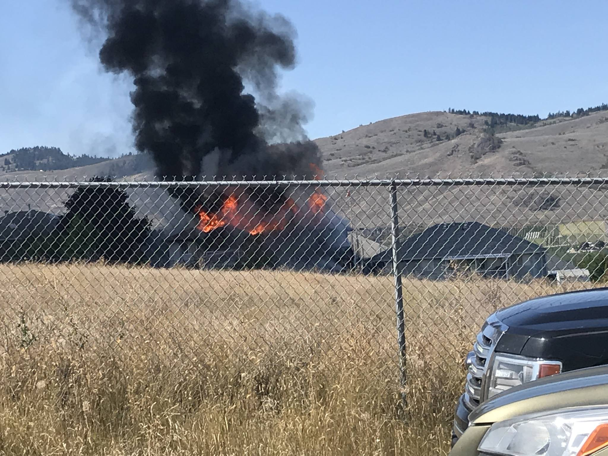 North Okanagan home scorched by flames