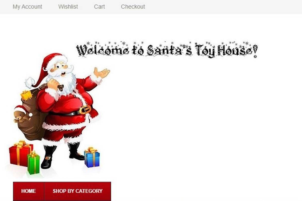 The Better Business Bureau has flagged SantasToyHouse.com is an illegal, fake site that scams buyers by stealing credit card information. (Contributed)