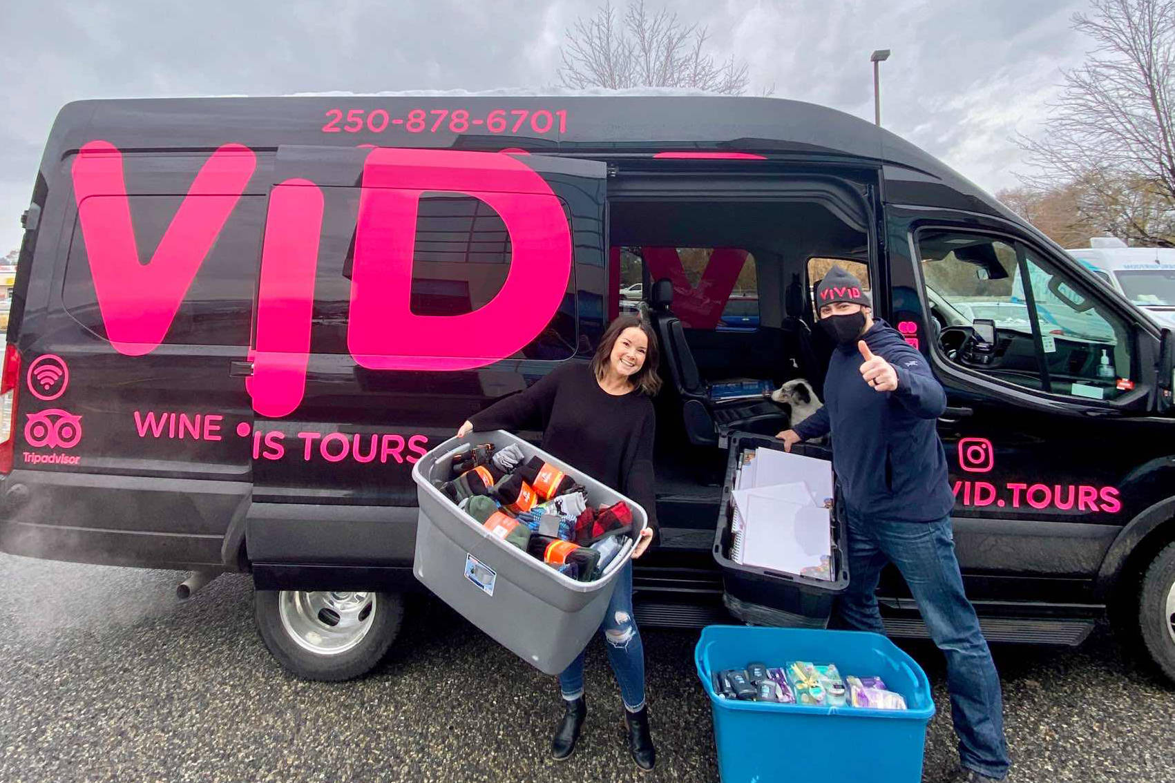 Vivid Tours is launching its 12 Days of Kindness Campaign in support of family organizations in Kelowna, B.C. (Contributed)