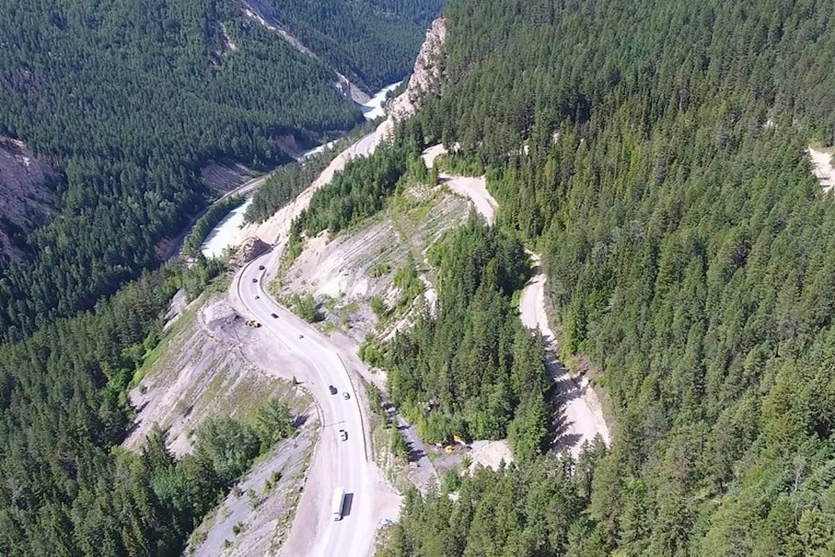 Phase 4 of the Kicking Horse Canyon Project is on track, with closures expected to start as early as next week. (Government of BC photo)